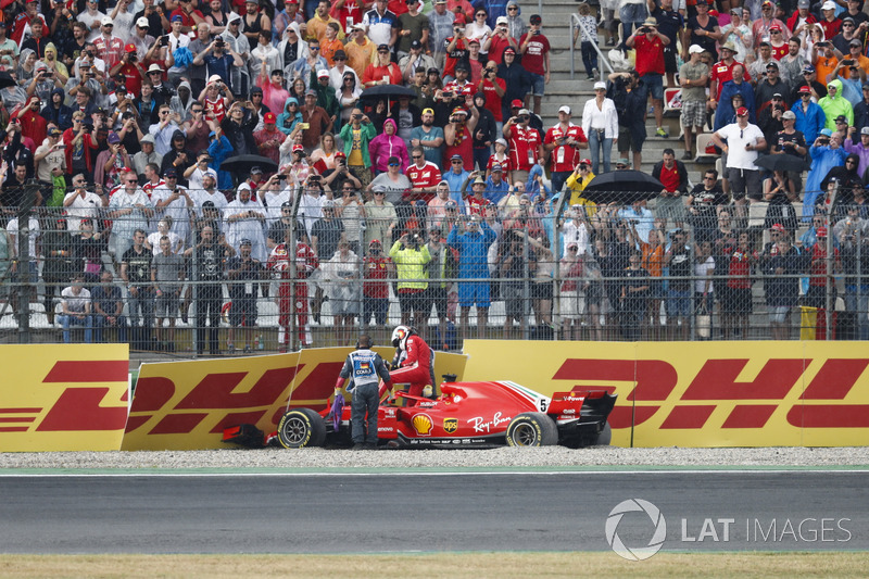 Accidente de Sebastian Vettel, Ferrari SF71H