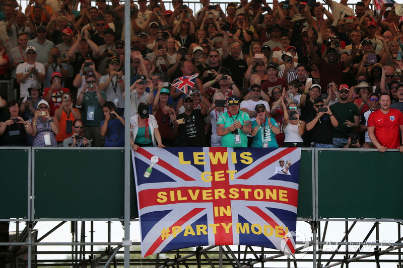 Lewis Hamilton fans at the British Grand Prix