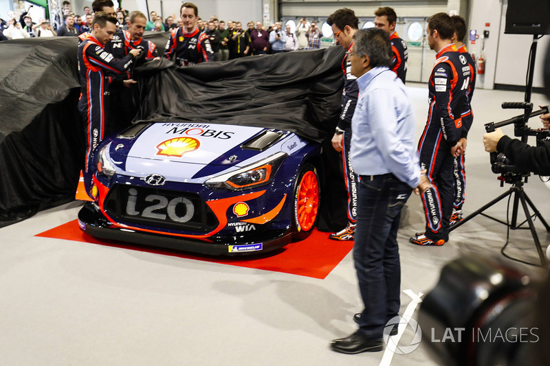 The Hyundai WRC car is launched