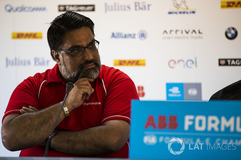 Dilbagh Gill, CEO, Team Principal, Mahindra Racing, in the press conference