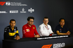Remi Taffin, Director of Operations, Renault Sport F1, Mattia Binotto, Chief Technical Officer, Ferr