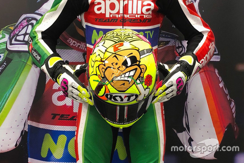Helmet of Aleix Espargaro, Aprilia Racing Team Gresini