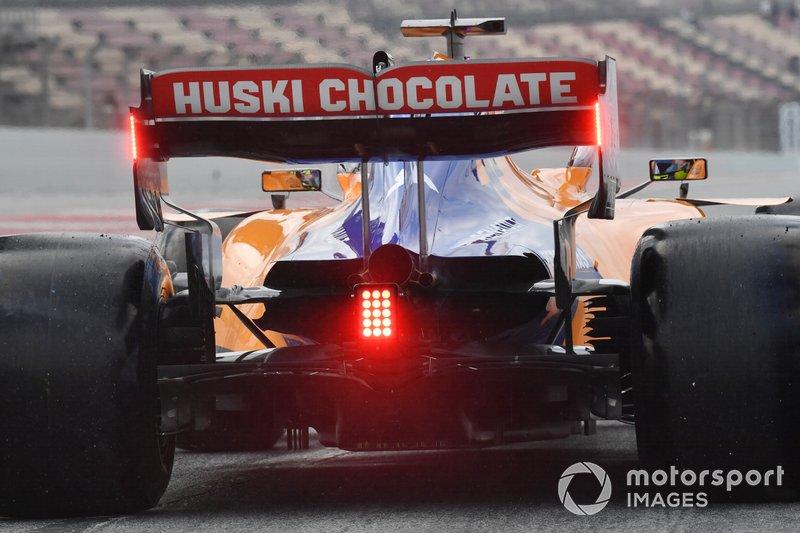 Detalle del auto de Lando Norris, McLaren MCL34