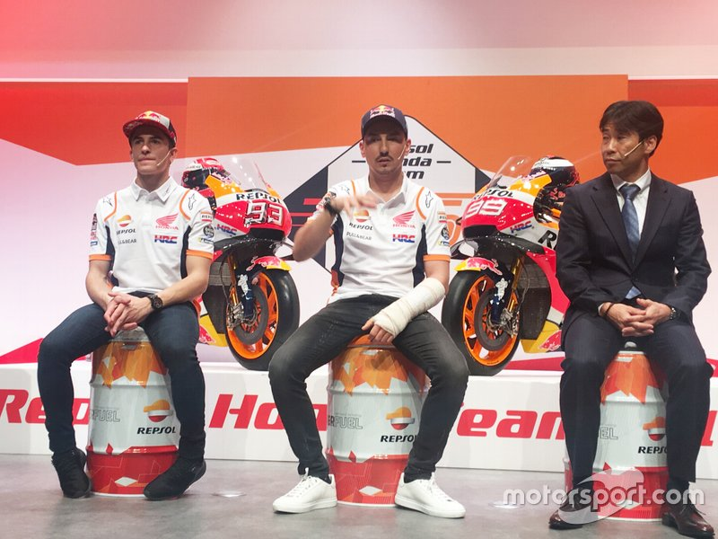 Marc Márquez, Jorge Lorenzo, Repsol Honda Team, and Kuwata Director HRC