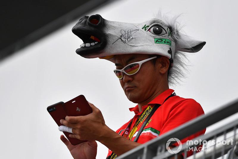 Fans Sebastian Vettel, Ferrari