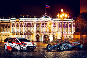 Toyota Yaris WRC und Mercedes F1 W09 EQ Power+