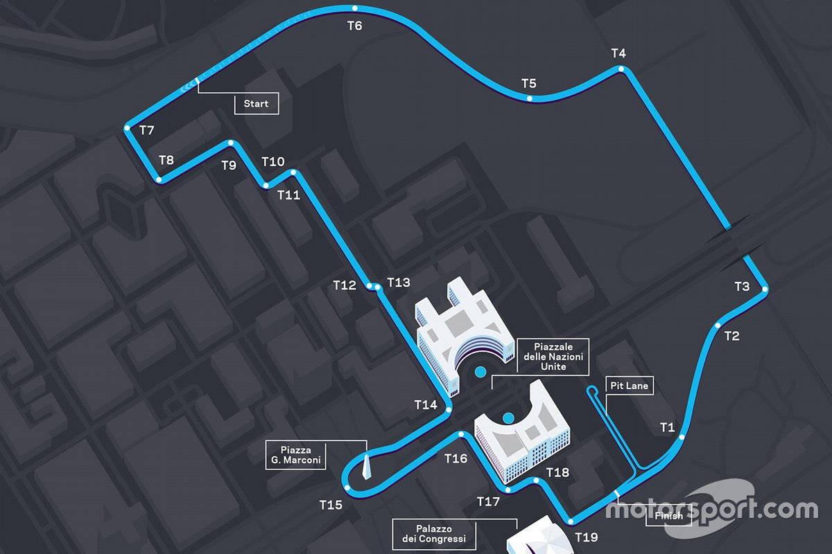 Rome E-Prix circuit layout