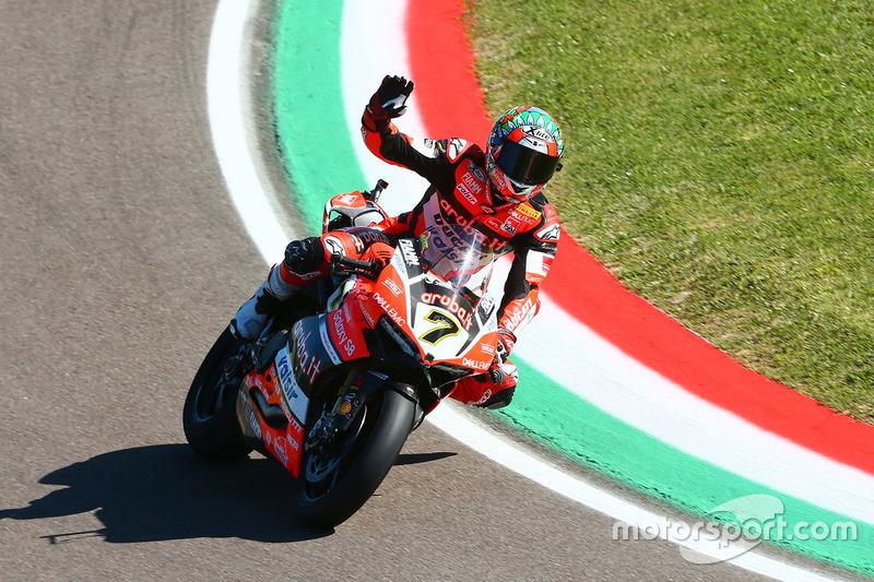 Ganador de la carrera Chaz Davies, Ducati Team