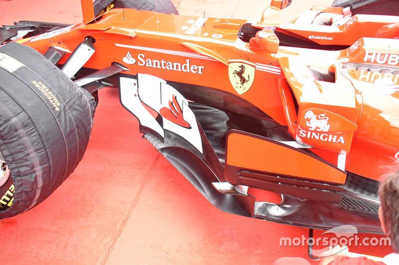 Ferrari SF70H: Seitenpartie