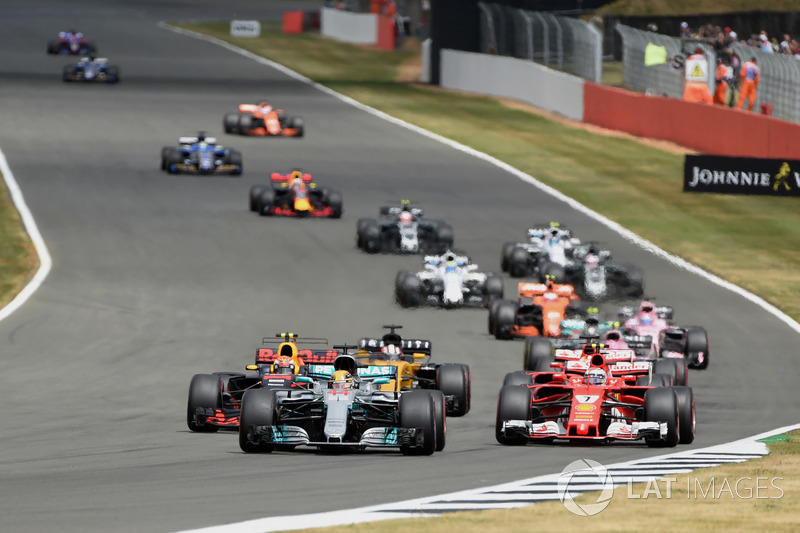 Arrancada Lewis Hamilton, Mercedes F1 W08