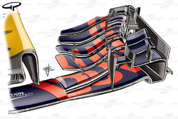 Red Bull RB13 front wing, Max Verstappen's car, Belgium GP