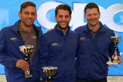 Christian Zimmermann, Thierry Kilchenmann, Marcel Muzzarelli, podium Rennen1
