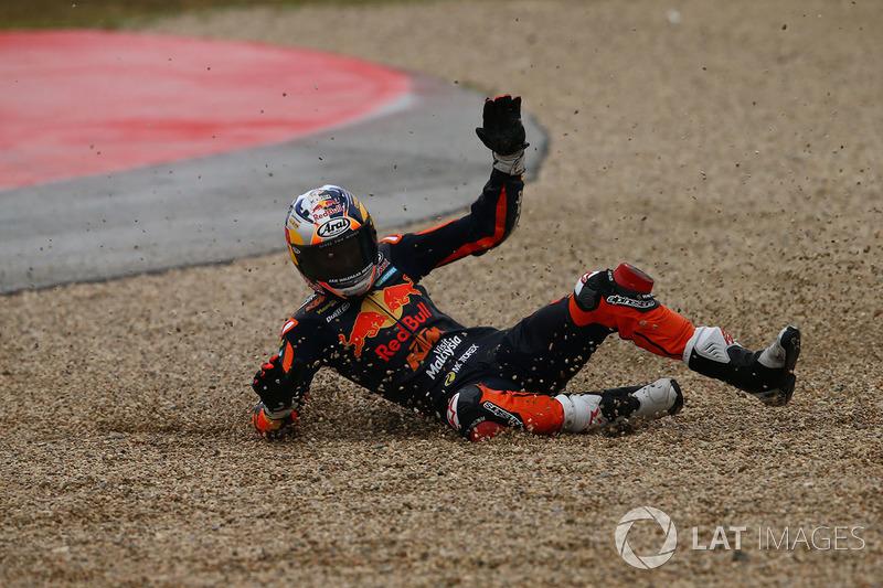 Bo Bendsneyder, Red Bull KTM Ajo, caída
