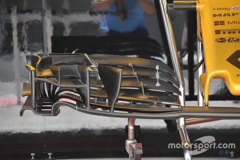 Renault Sport F1 Team RS17 detalle ala delantera