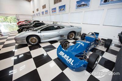 Visita à garagem de Nelson Piquet