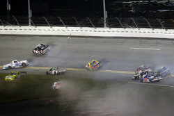 Crash: Stewart Friesen, Chevrolet; John Hunter Nemechek, SWM-NEMCO Motorsports Chevrolet; Ross Chastain, Chevrolet; Ryan Truex, Toyota