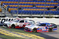 Kyle Benjamin, Joe Gibbs Racing Toyota and Ty Majeski, Roush Fenway Racing Ford