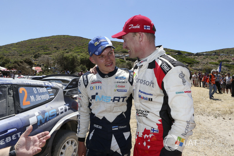 1. Ott Tänak, M-Sport, Ford Fiesta WRC; 2. Jari-Matti Latvala, Toyota Yaris WRC, Toyota Racing