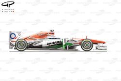 Force India VJM06 side view
