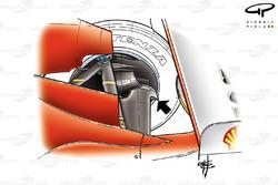 Ferrari F2004 (655) 2004 rear suspension fin