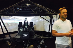 Rubens Barrichello with the AOTech simulator