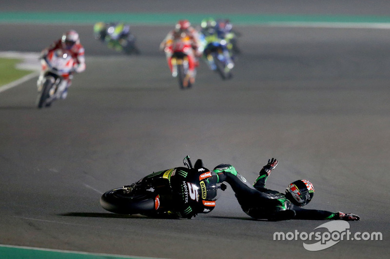 5. Johann Zarco, Monster Yamaha Tech 3 accidente