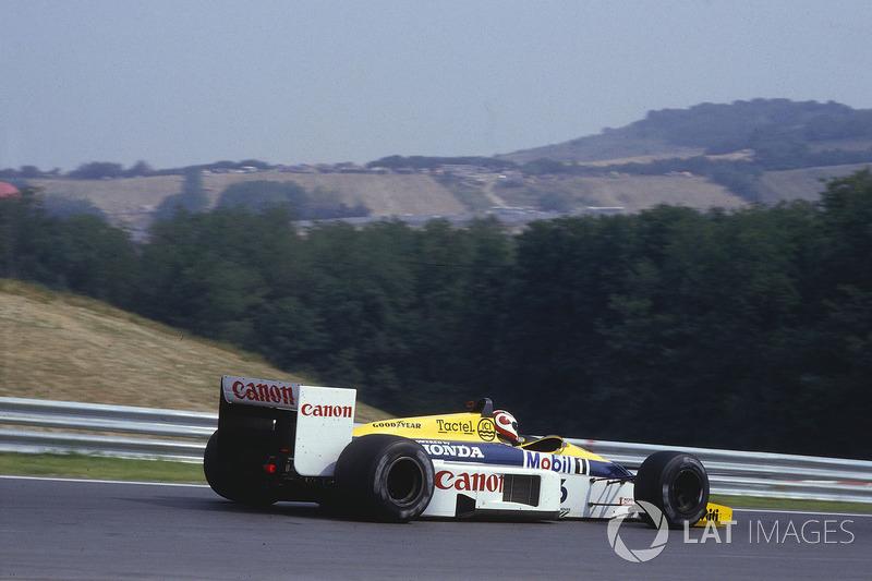 A histórica ultrapassagem sobre Senna no GP da Hungria de 1986