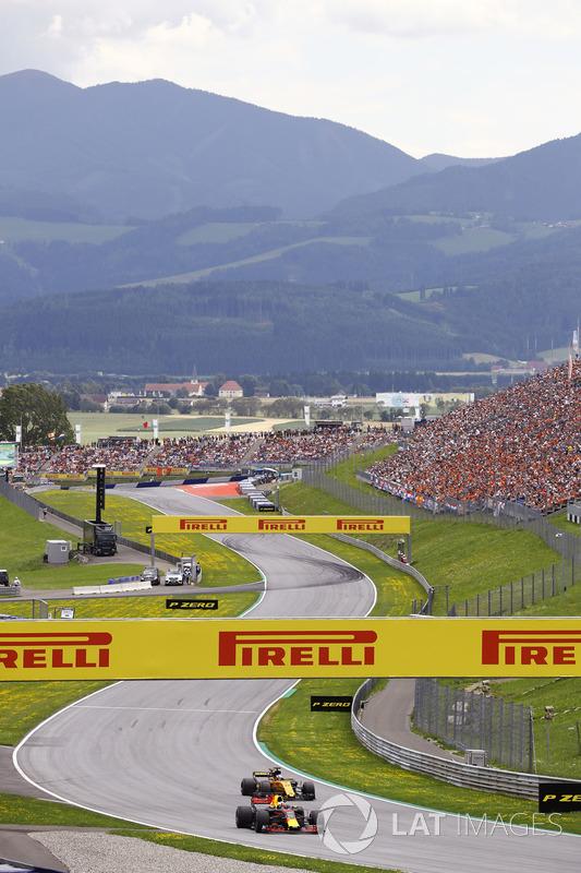 Даніель Ріккардо, Red Bull Racing RB13, Ніко Хюлькенберг, Renault Sport F1 Team RS17