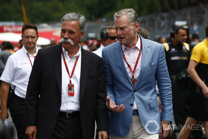 Chase Carey, Chairman, Formula One, Sean Bratches, Managing Director of Commercial Operations, Formula One Group