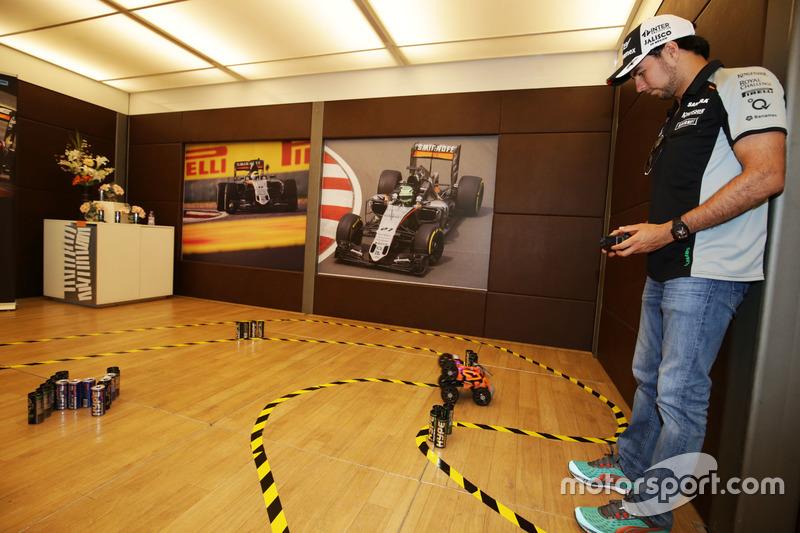 Sergio Perez, Sahara Force India F1 prende parte alla Hype Energy Challenge