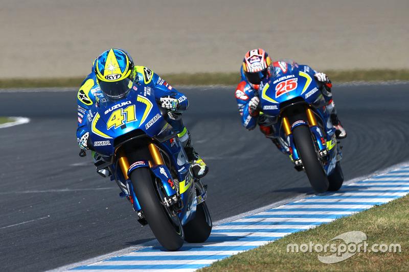 Aleix Espargaro, Team Suzuki Ecstar MotoGP; Maverick Viñales, Team Suzuki Ecstar MotoGP