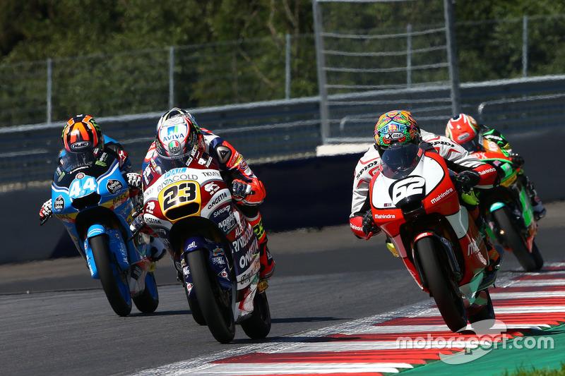 Niccolò Antonelli, Ongetta-Rivacold, Honda; Stefano Manzi, Mahindra Racing