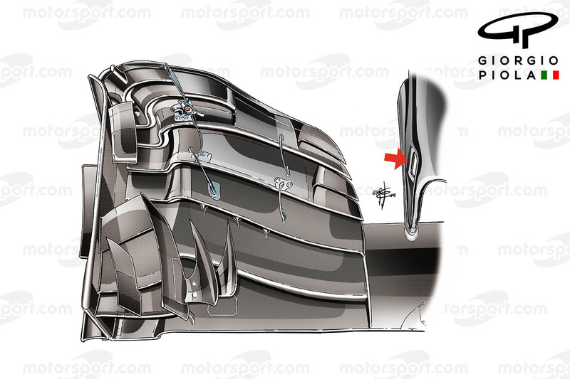McLaren MP4/31 front wing, captioned, Hungarian GP