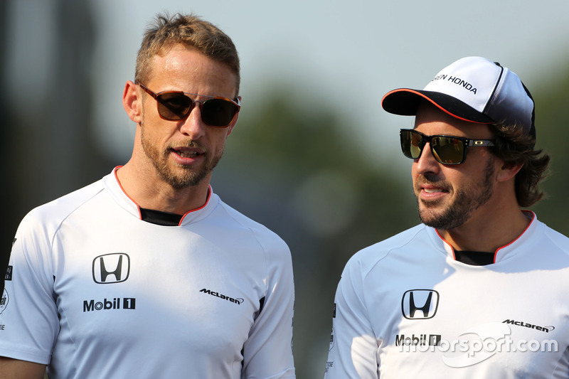 Jenson Button,, McLaren Honda and Fernando Alonso,, McLaren Honda