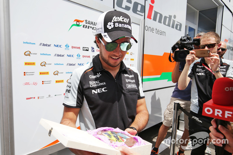 Sergio Perez, Sahara Force India F1 medya ile