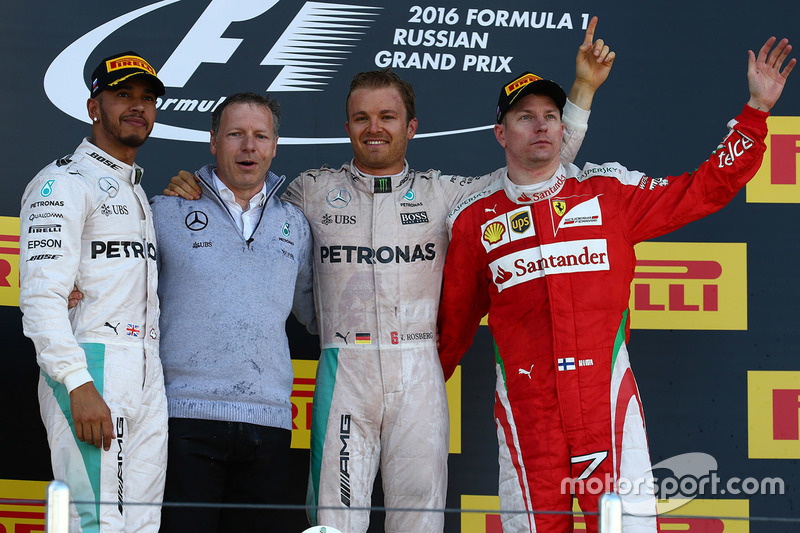 Podium: Sieger Nico Rosberg, Mercedes AMG F1 Team, 2. Lewis Hamilton, Mercedes AMG F1 Team, 3. Kimi Räikkönen, Ferrari
