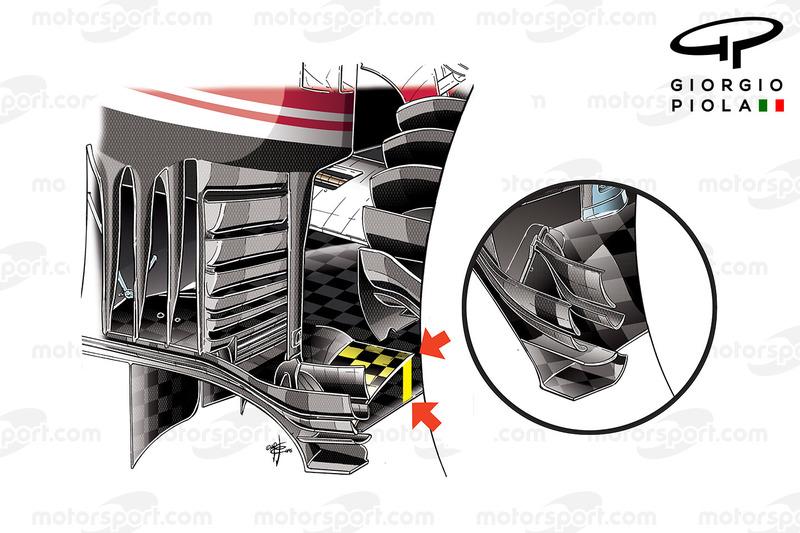 Ferrari SF16-H: Diffusor, Vergleich