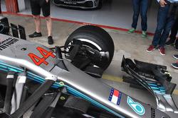 Vue détaillée de la Mercedes AMG F1