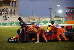 Daniel Ricciardo, Red Bull Racing RB13, contraint à l'abandon