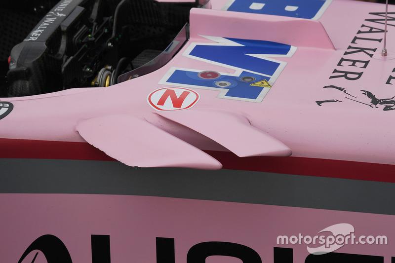 Force India VJM10: Winglets am Cockpit