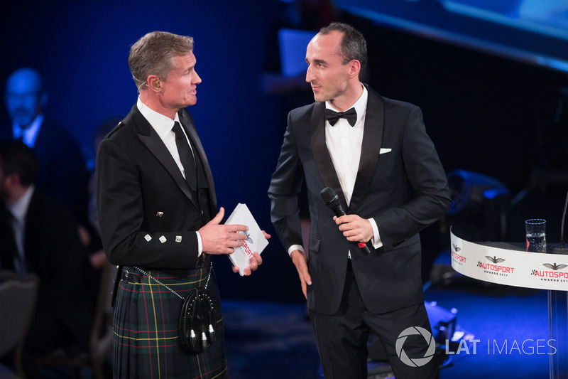 Robert Kubica with Presenter David Coulthard