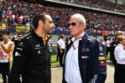 Cyril Abiteboul, Renault Sport F1 Direktörü ve Dr Helmut Marko, Red Bull Motorsporları Direktörü