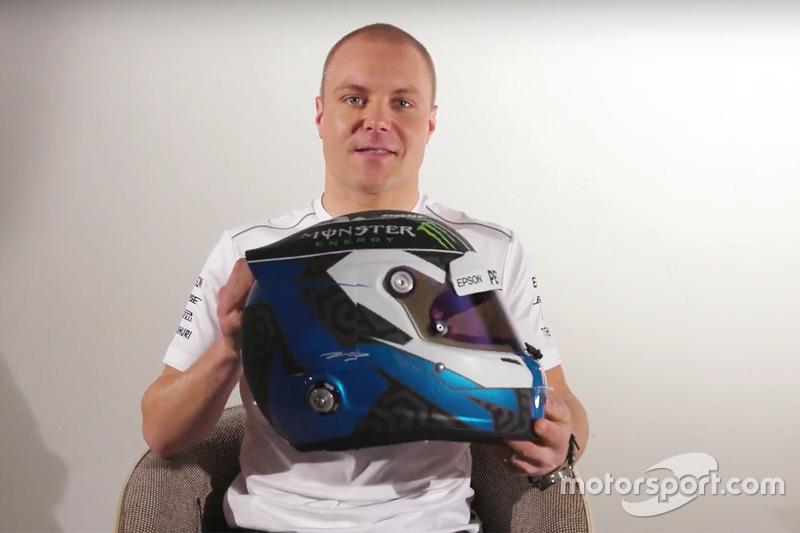 Valtteri Bottas, Mercedes AMG F1 yeni kaskını tanıtıyor