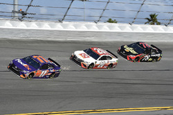 Denny Hamlin, Joe Gibbs Racing Toyota, Erik Jones, Joe Gibbs Racing Toyota, Martin Truex Jr., Furniture Row Racing Toyota