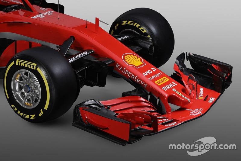 Ferrari SF71H, dettaglio anteriore