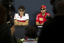 Sebastian Vettel, Ferrari and Sebastian Vettel, Ferrari in the Press Conference