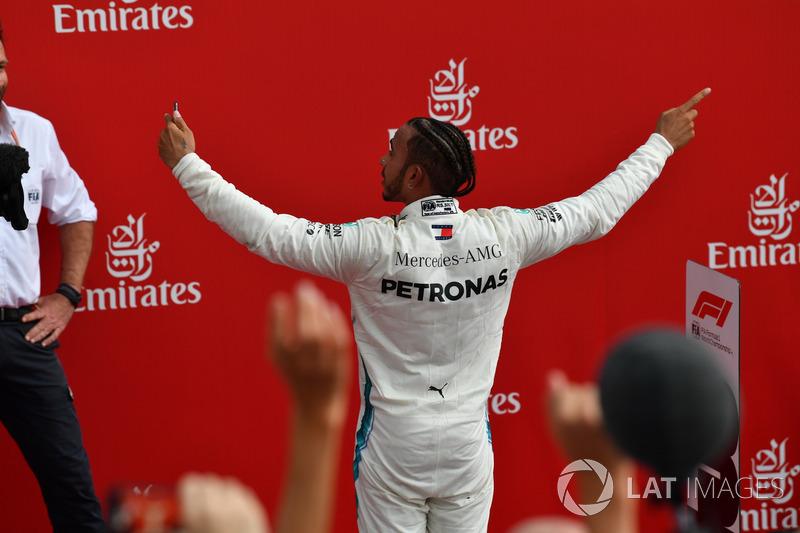 El ganador: Lewis Hamilton, Mercedes-AMG F1