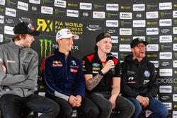 Press Conference: Timmy Hansen, Team Peugeot Total, Robin Larsson, Olsbergs MSE, Petter Solberg, PSRX Volkswagen Sweden