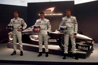David Coulthard, Olivier Panis and Mika Hakkinen