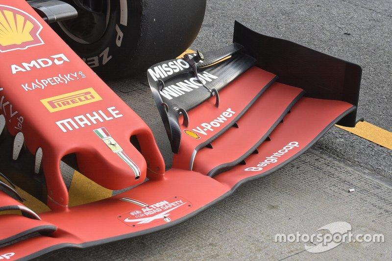 Ferrari detalle técnico del morro